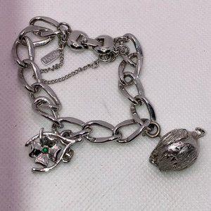 """Monet Lucky Duck Charm Bracelet 9"""""""